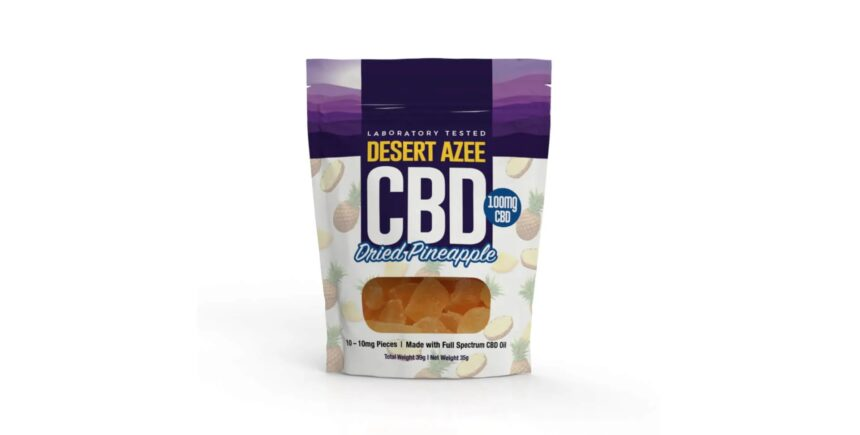 Desert Azee CBD Dried Pineapple