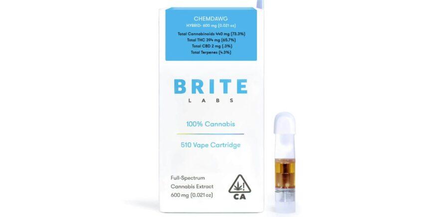 Brite Labs cannabis cartridge