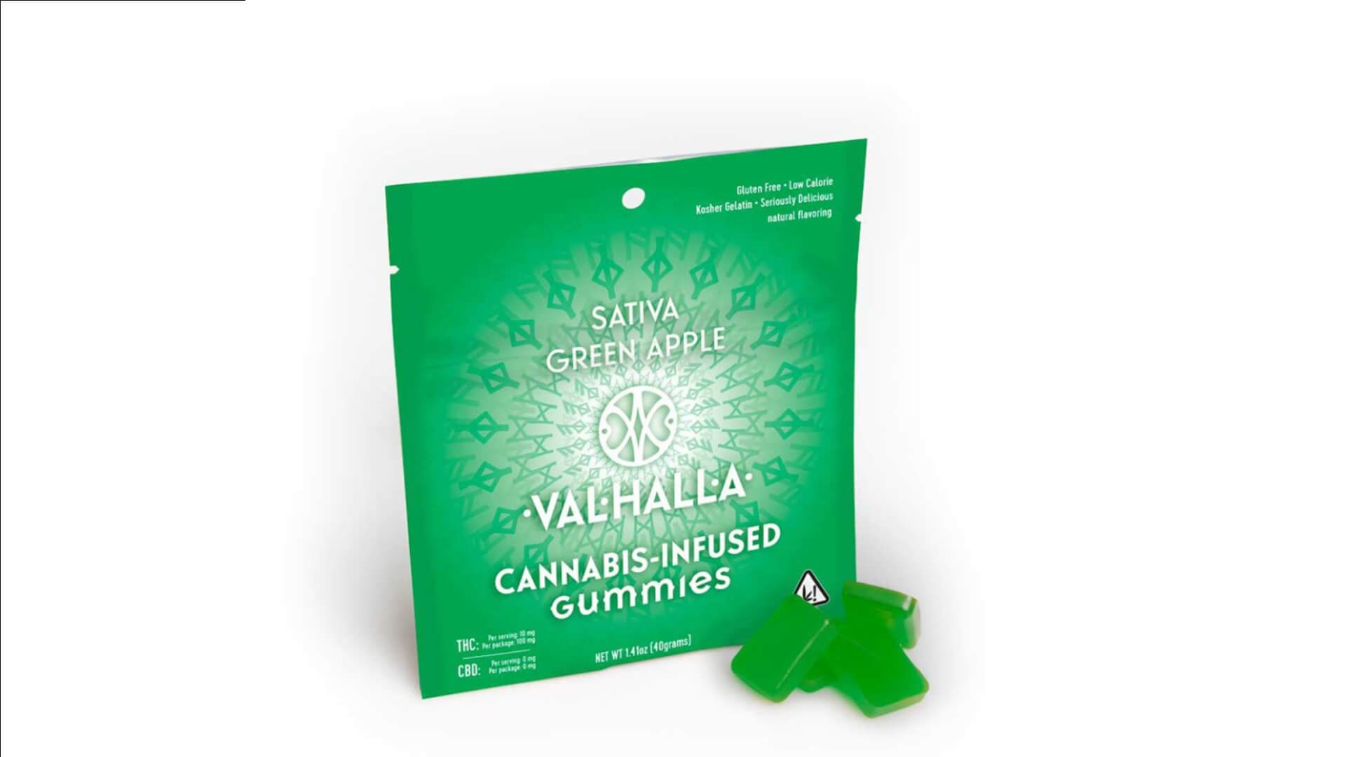 Valhalla cannabis-infused green apple gummies