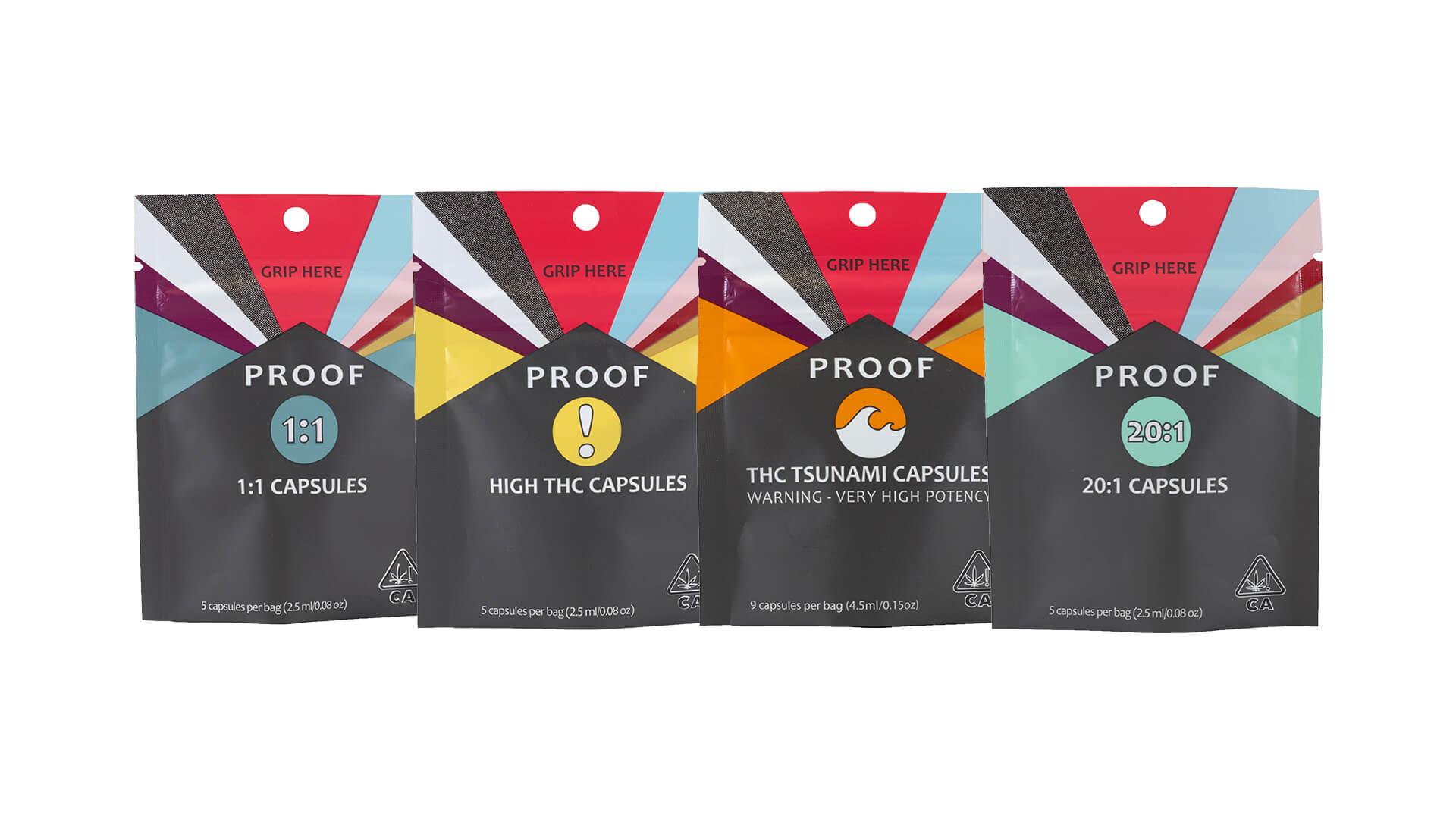 Proof capsules bags