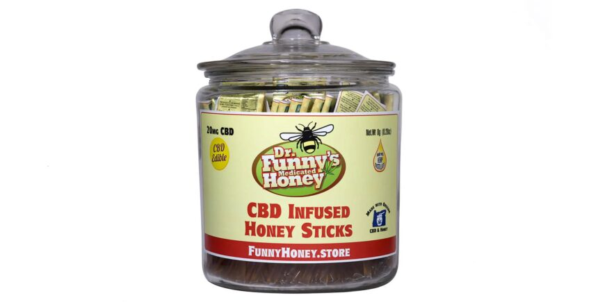 Dr. Funny's CBD Honey Sticks Jar