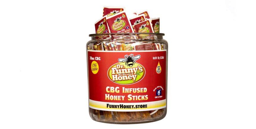 Dr. Funny's Medicated CBG Honey Sticks