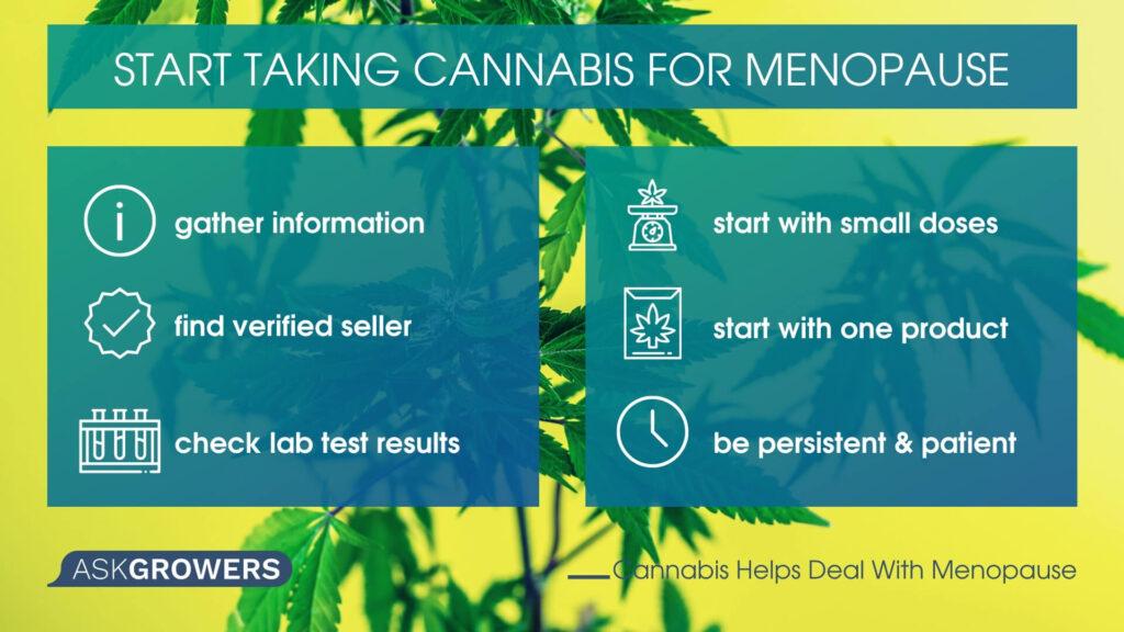Start using cannabis during menopause