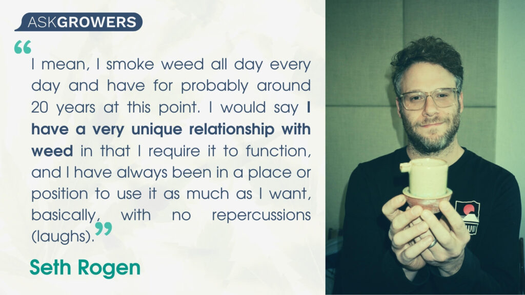 Celebrity Quotes About Their Cannabis Brands: Seth Rogen