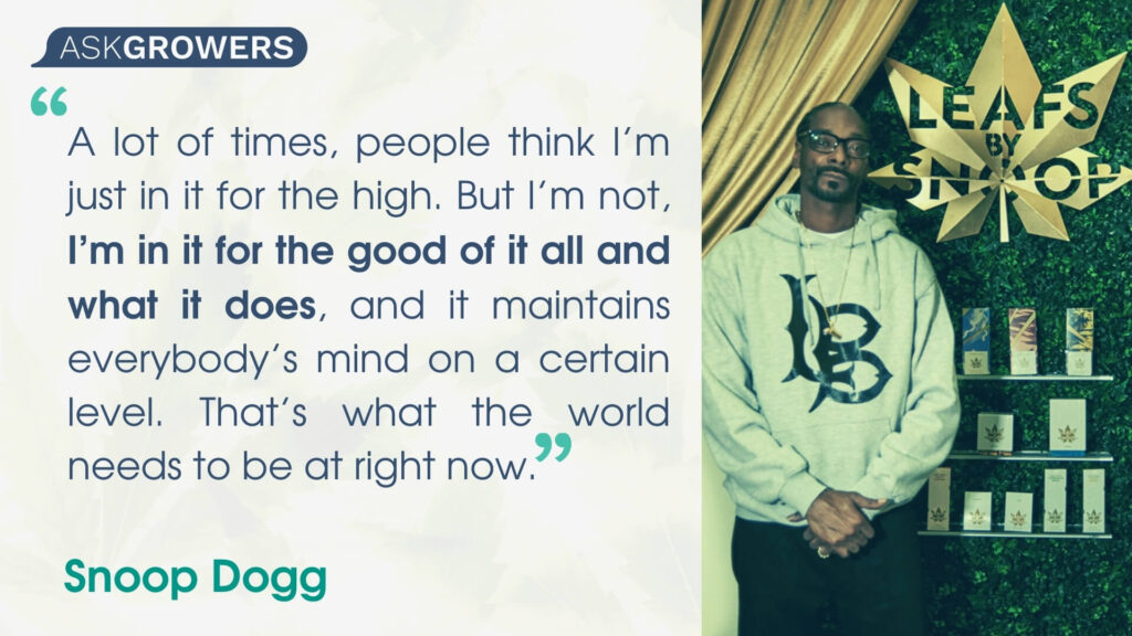 Celebrity Quotes About Their Cannabis Brands: Snoop Dogg