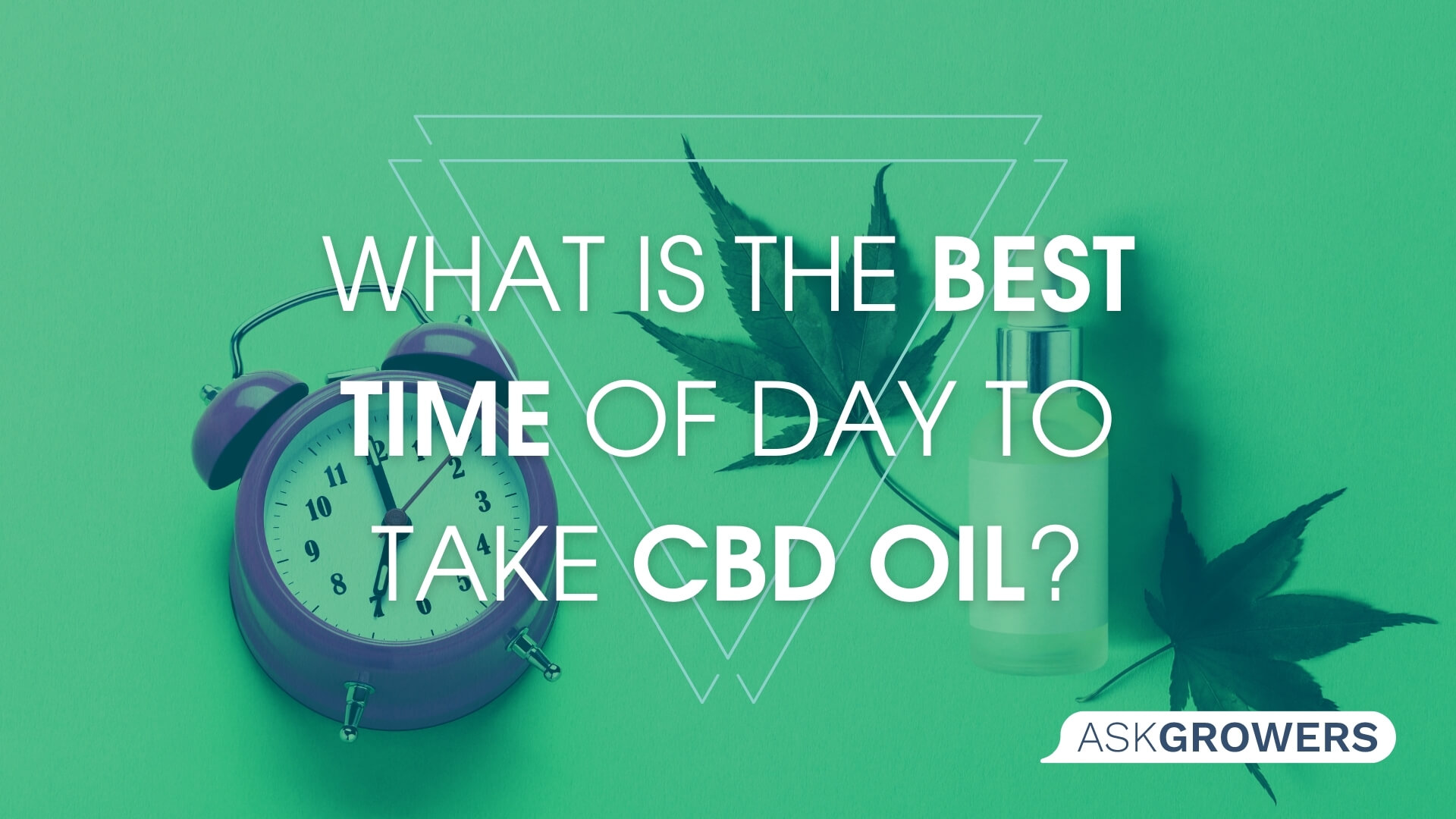 What Is the Best Time of Day to Take CBD Oil?, AskGrowers